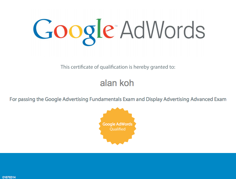 Google Display Advertising Cert