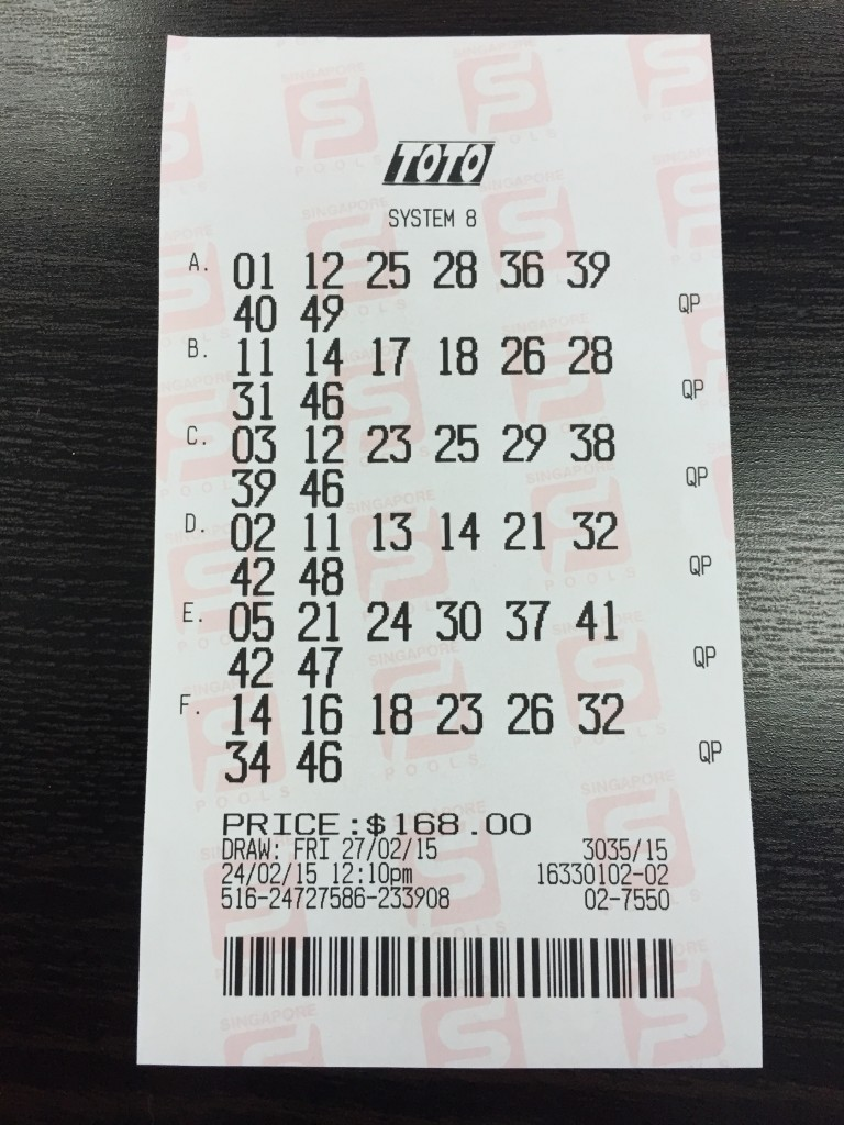 Toto 12m winning ticket