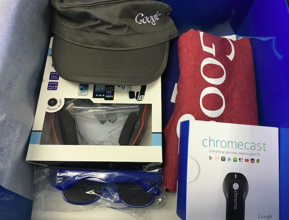 Google gift box open