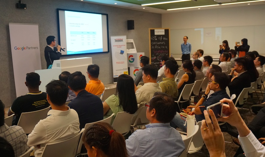 Full house event with Google